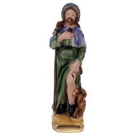 St Roch in plaster h 15 cm s1