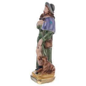 San Rocco 15 cm statua gesso  s2