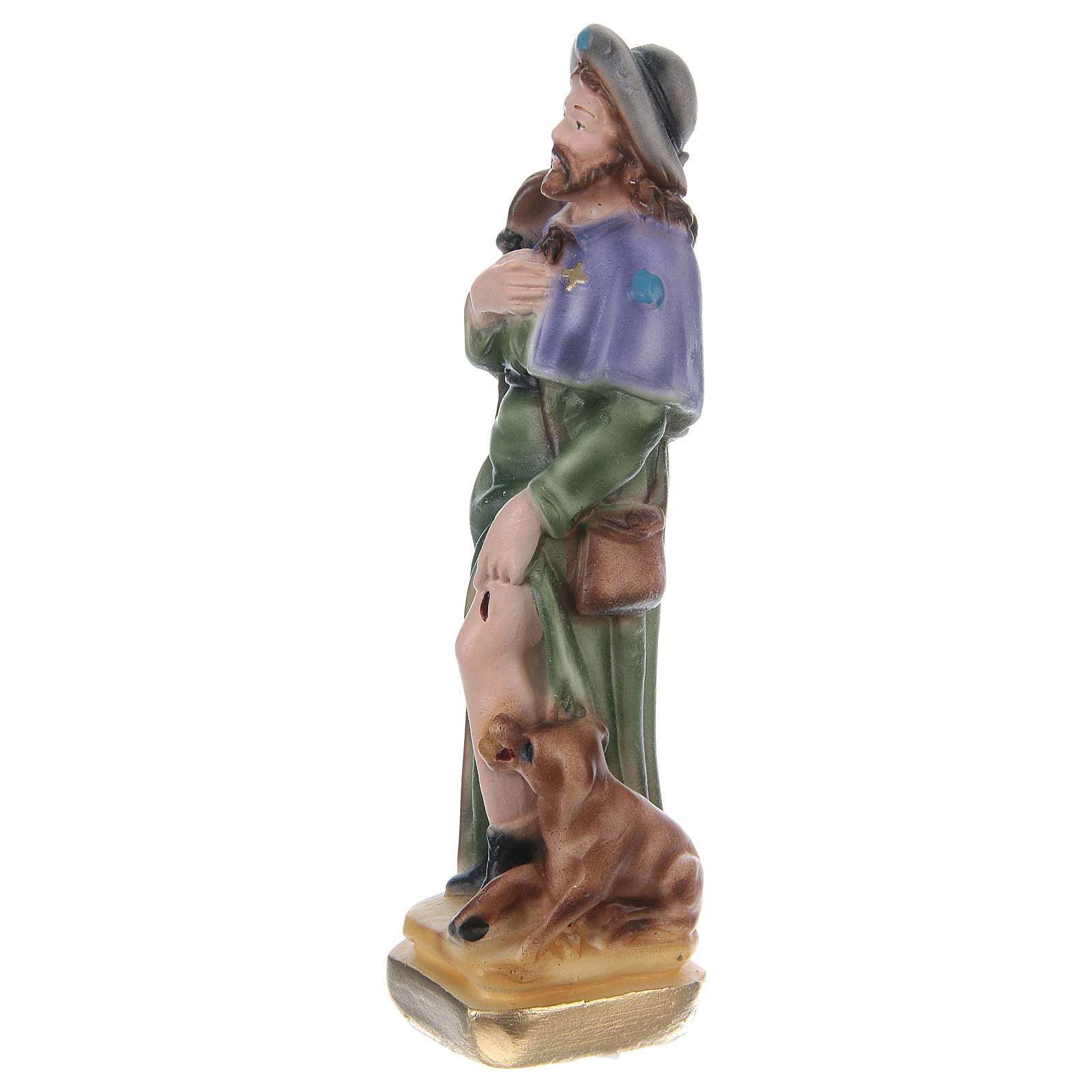 Saint Roch 15 cm Plaster Statue 4