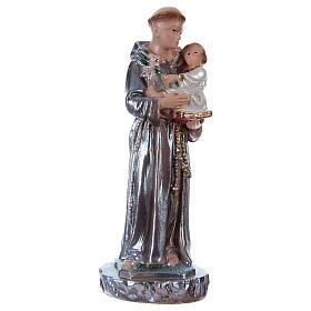 Imagens em Gesso: Santo António 15 cm gesso nacarado