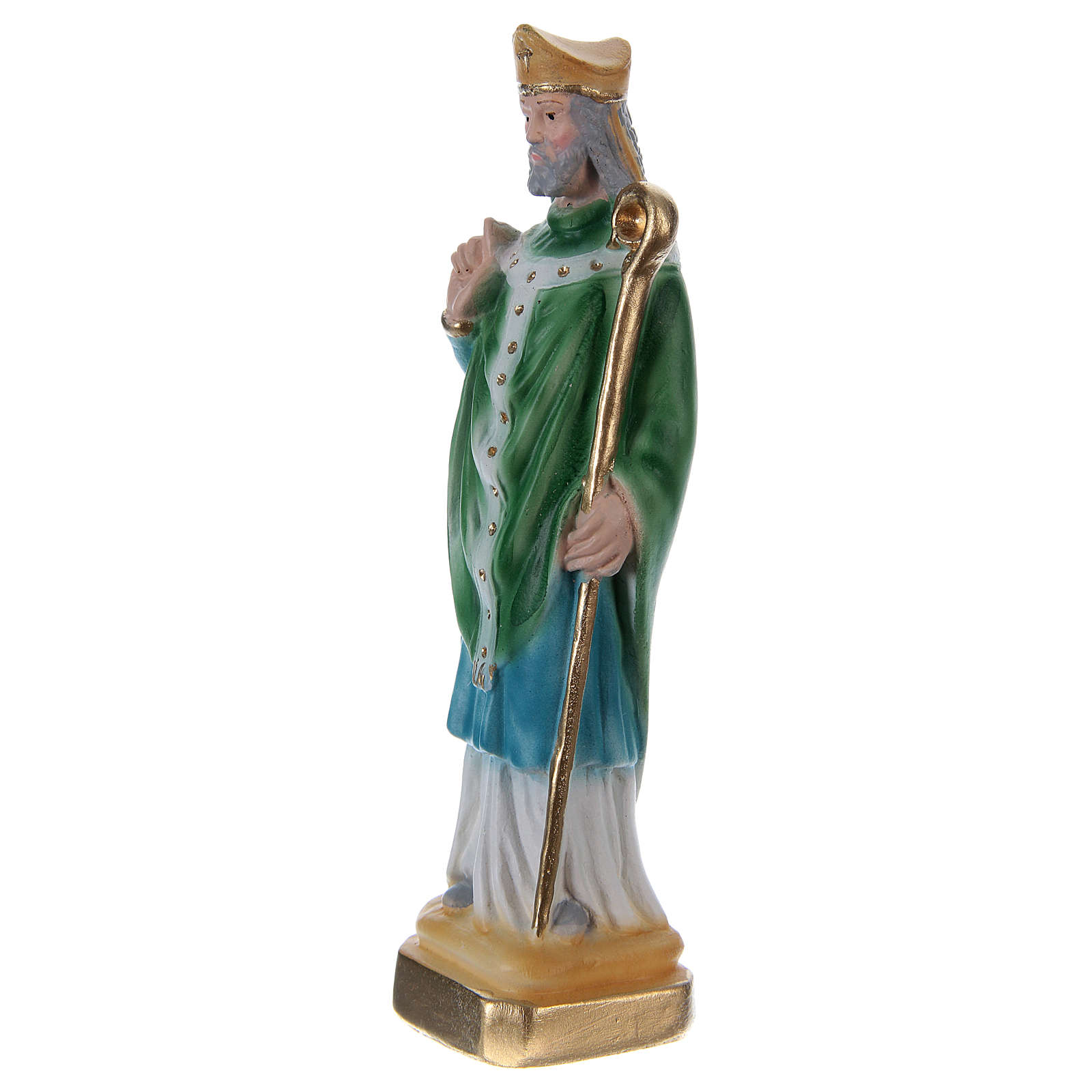 St. Patrick 15 cm Plaster Statue 4