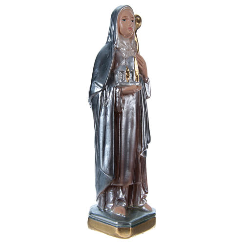 Estatua yeso nacarado Santa Brígida 20 cm 4