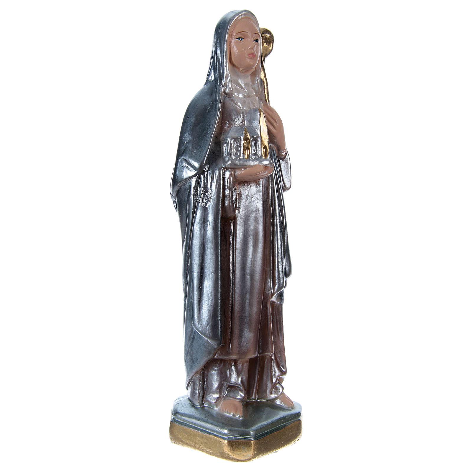 Statue plâtre nacré Sainte Brigitte 20 cm 4
