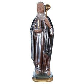 Statue plâtre nacré Sainte Brigitte 20 cm s1