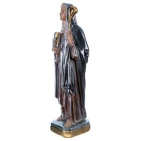 Statue plâtre nacré Sainte Brigitte 20 cm s3