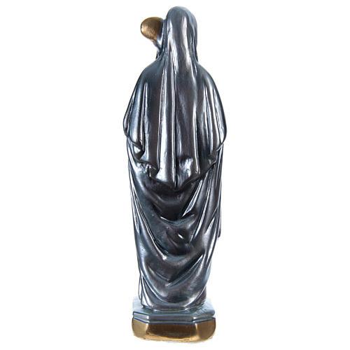 Statue plâtre nacré Sainte Brigitte 20 cm 5