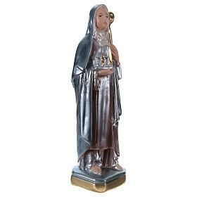 Statua gesso madreperlato Santa Brigitta 20 cm s4