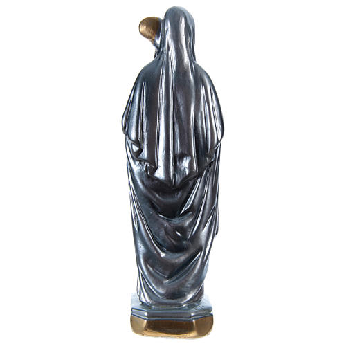 Saint Bridget Statue, 20 cm in plaster with mother of pearl 5