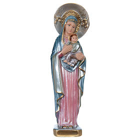 Statue of Perpetual Help in mother-of-pearl plaster h 20 cm s1