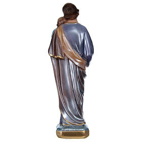 St. Joseph Holding Jesus 20 cm, in plaster with mother of pearl s5