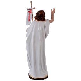 Estatua de yeso Jesús resucitado con bandera 40 cm s4
