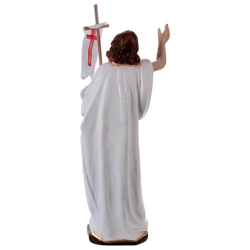 Imagem em gesso Cristo Ressuscitado com bandeira 40 cm 4