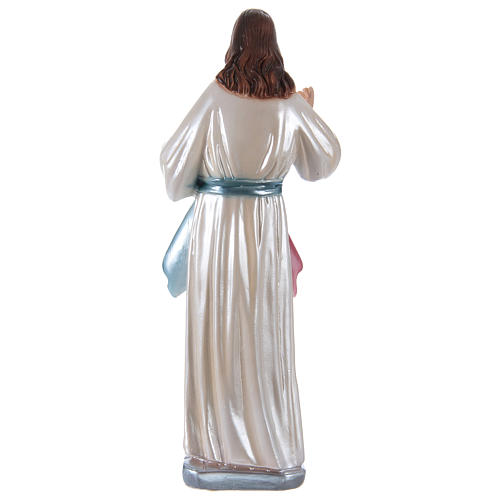 Statue of Jesus in mother-of-pearl plaster h 30 cm 4