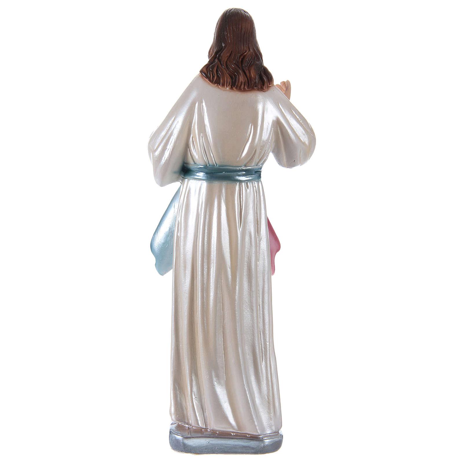 Statue Jésus plâtre nacré h 30 cm 4