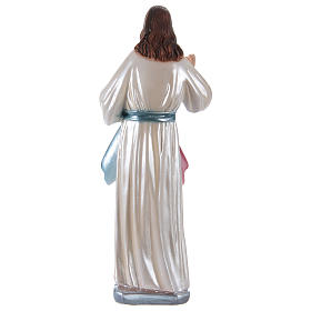 Statua Gesù gesso madreperlato h 30 cm s4