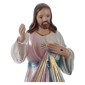 Estatua Jesús yeso nacarado h 20 cm s2