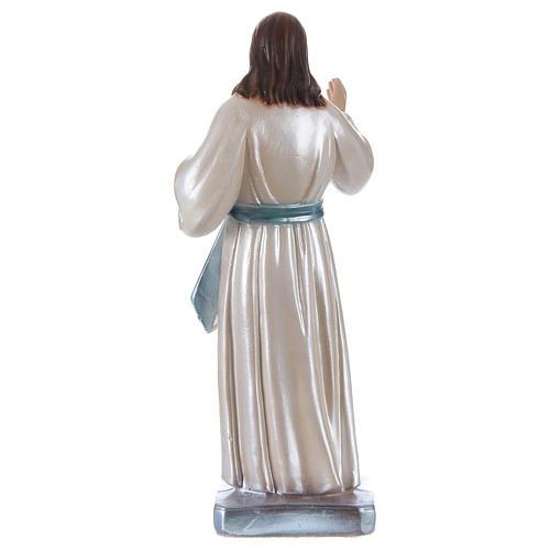 Estatua Jesús yeso nacarado h 20 cm 4