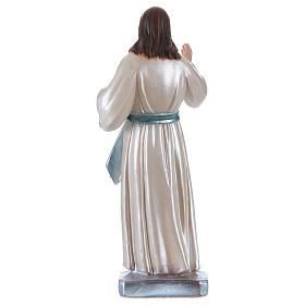 Statua Gesù gesso madreperlato h 20 cm s4