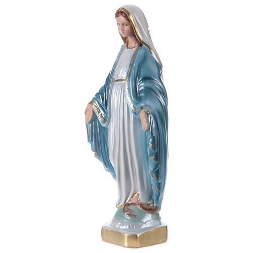 Estatua Virgen Milagrosa 20 cm de yeso nacarado 3