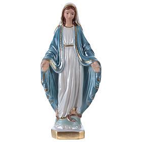 Imagens em Gesso: Imagem Nossa Senhora Milagrosa h 20 cm gesso nacarado