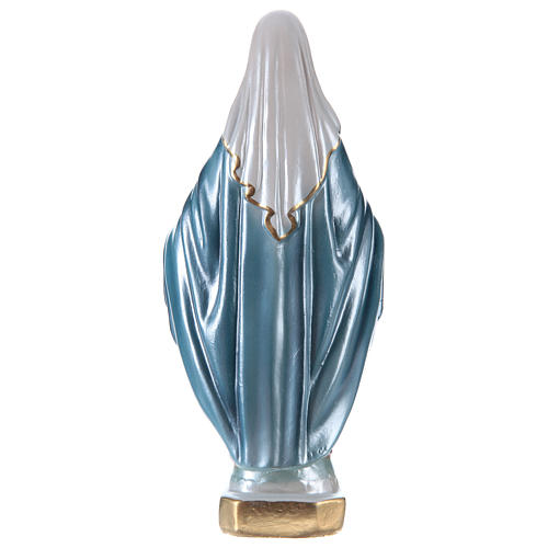 Our Lady of Grace statue in pearlized plaster, 20 cm 4