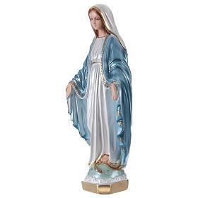 Estatua de yeso nacarado Virgen Milagrosa 35 cm s3