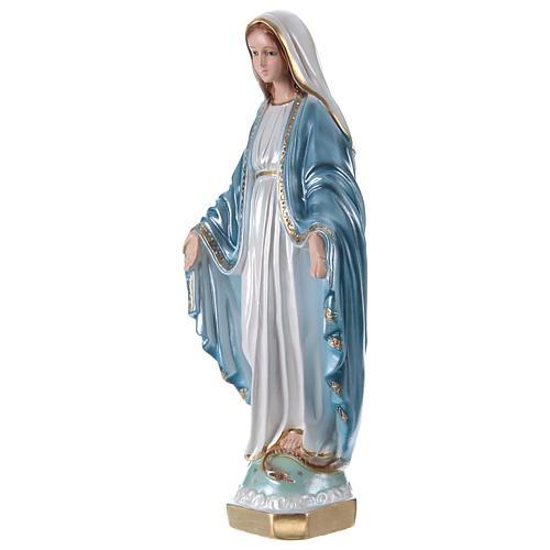 Estatua de yeso nacarado Virgen Milagrosa 35 cm 3