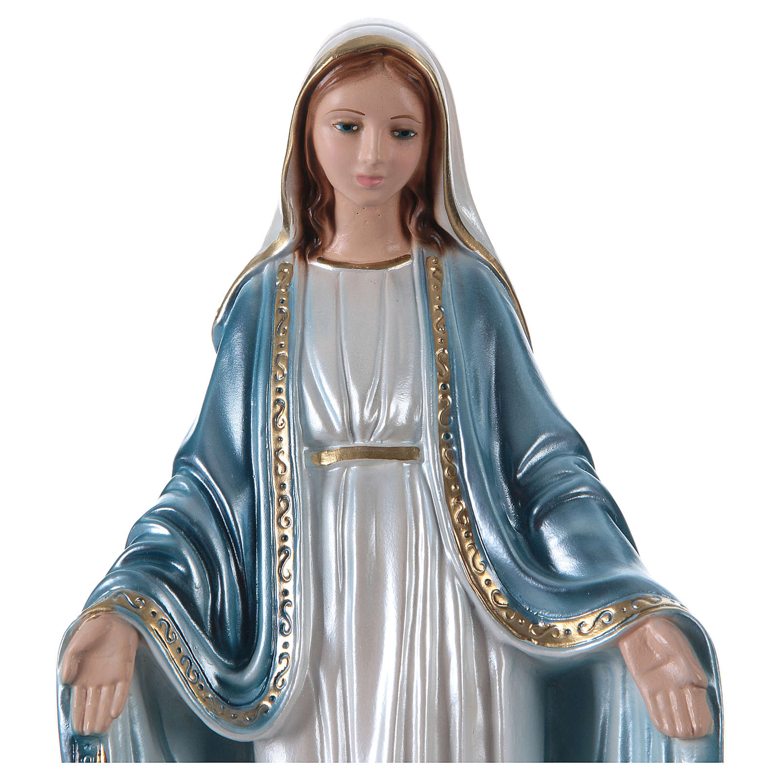 Our Lady of Grace statue in pearlized plaster, 33 cm 4