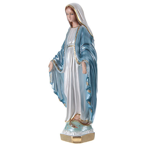 Our Lady of Grace statue in pearlized plaster, 33 cm 3