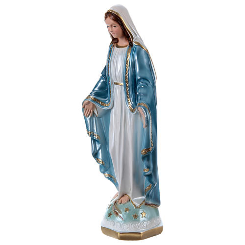 Our Lady of Miracles 40 cm in mother-of-pearl plaster 3