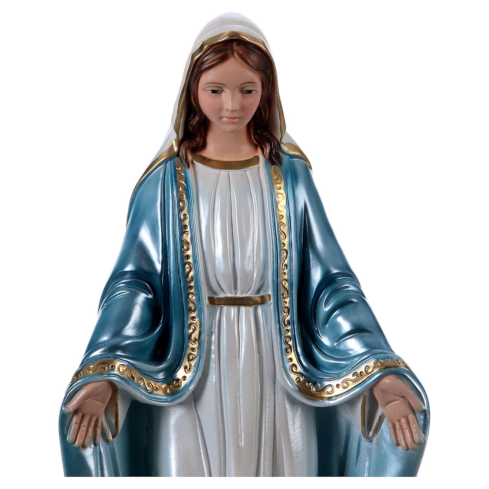 Statue en plâtre nacré Vierge Miraculeuse 40 cm 4