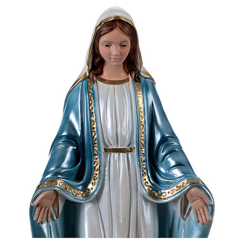 Imagem em gesso nacarado Virgem Milagrosa h 40 cm 2