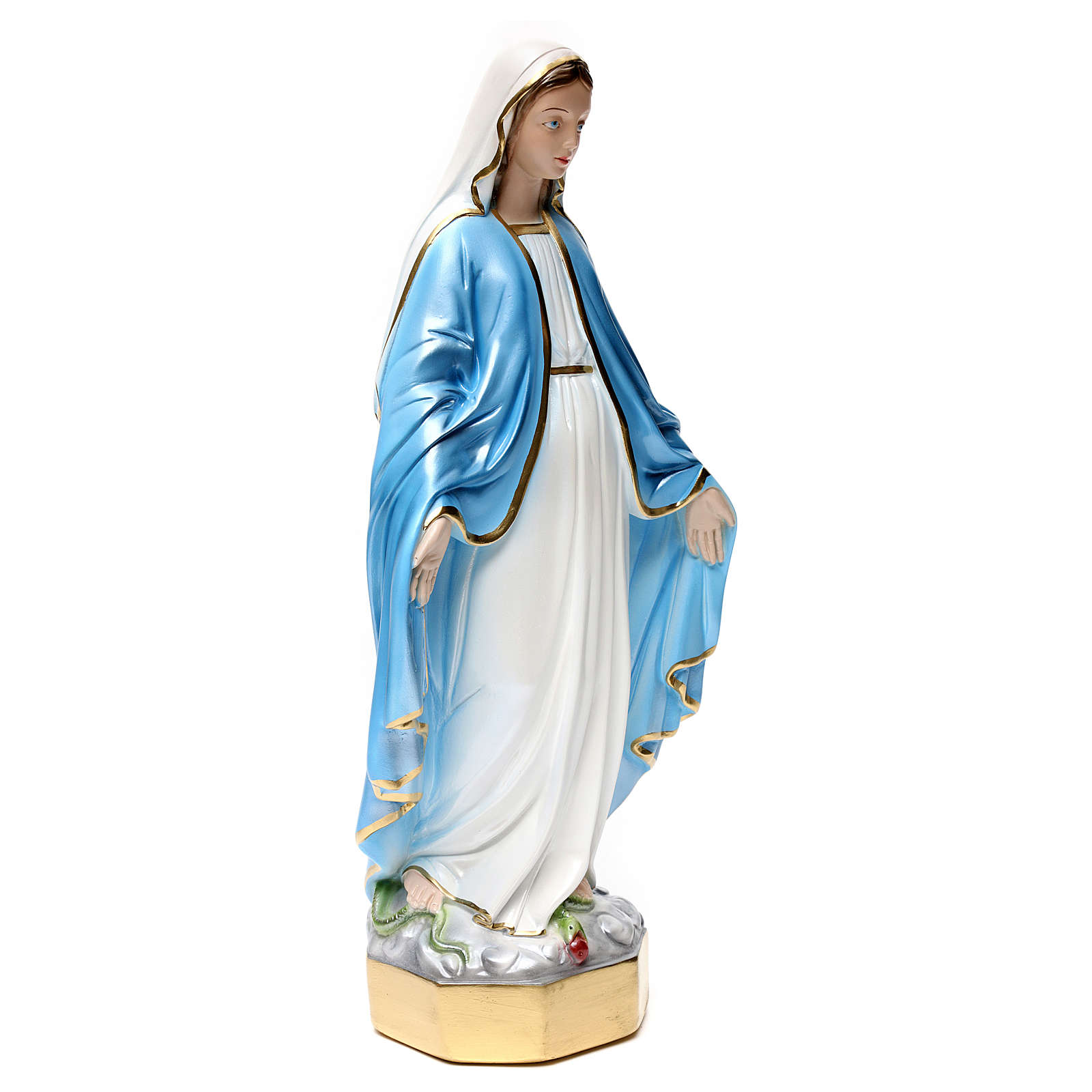 Estatua Virgen Milagrosa 50 cm de yeso nacarado 4
