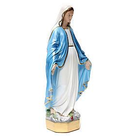 Statue Vierge Miraculeuse 50 cm en plâtre nacré s4