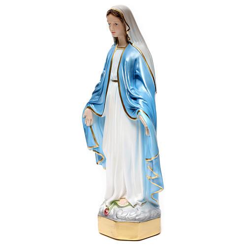 Statue Vierge Miraculeuse 50 cm en plâtre nacré 3