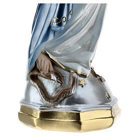 Statua Madonna Miracolosa 50 cm in gesso madreperlato s6