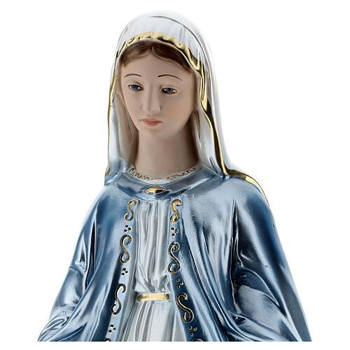 Statua Madonna Miracolosa 50 cm in gesso madreperlato 2