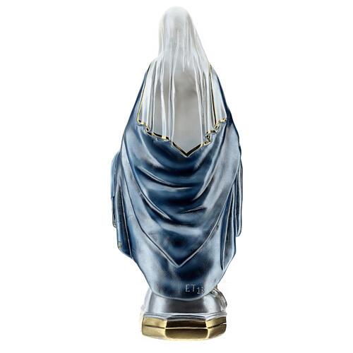 Statua Madonna Miracolosa 50 cm in gesso madreperlato 7