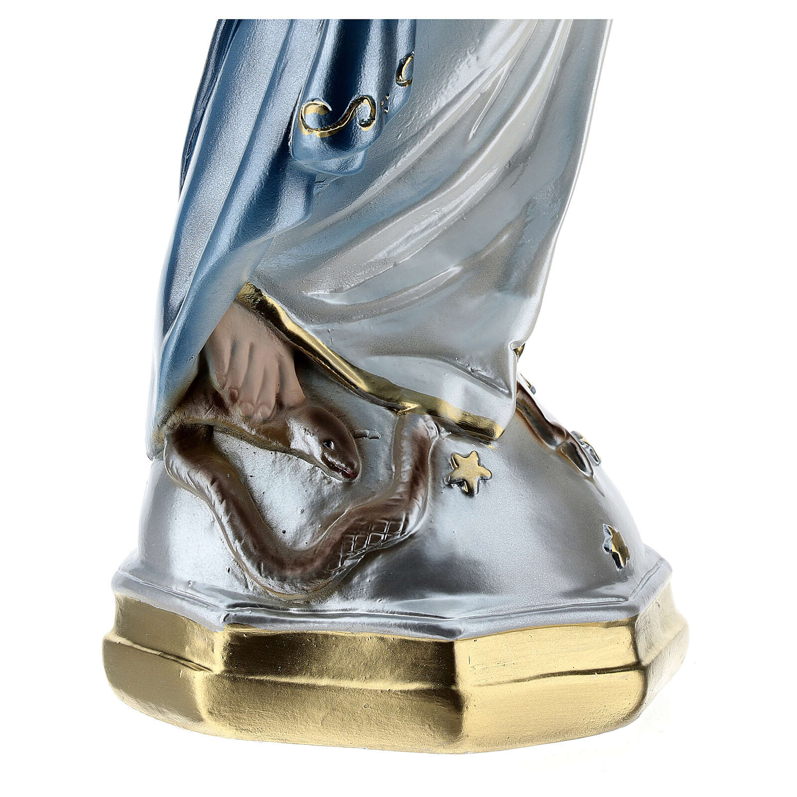 Our Lady of Miracles statue in pearlized plaster, 50 cm 4