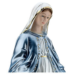 Our Lady of Miracles statue in pearlized plaster, 50 cm s4