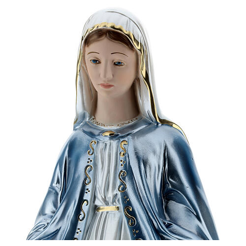 Our Lady of Miracles statue in pearlized plaster, 50 cm 2