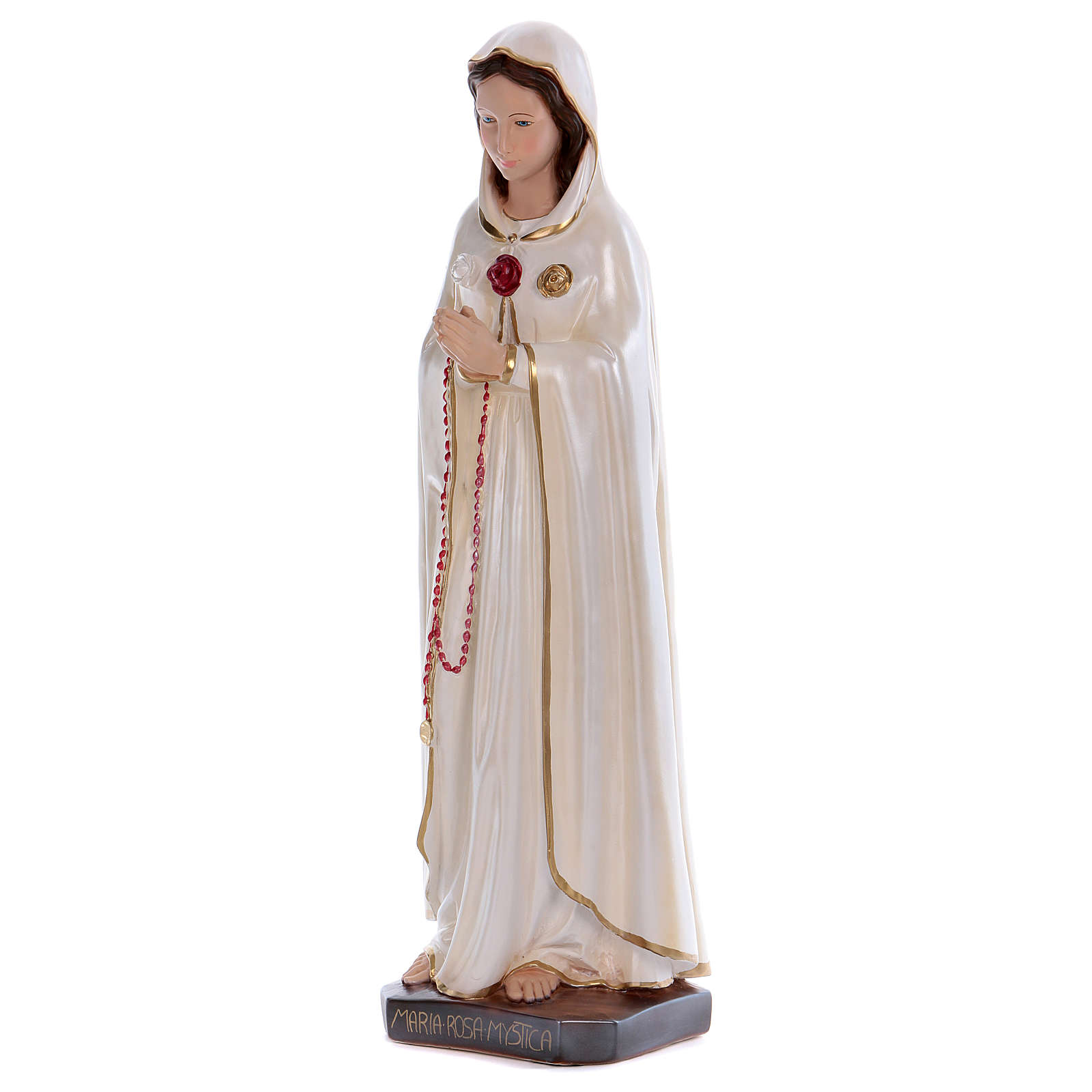 Mary Rosa Mystica statue in pearlized plaster 70 cm 4