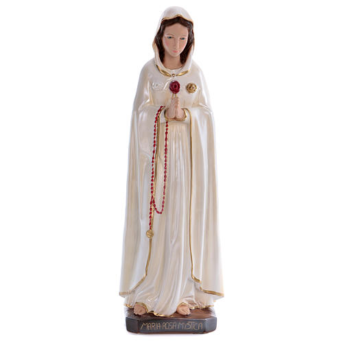 Mary Rosa Mystica statue in pearlized plaster 70 cm 1