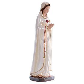 Statue Sainte Rose Mystique plâtre nacré 70 cm s4