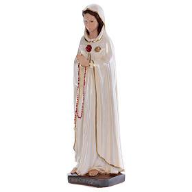 Statua Santa Rosa Mistica gesso madreperlato 70 cm s3