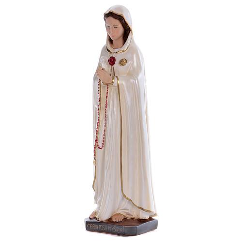 Statua Santa Rosa Mistica gesso madreperlato 70 cm 3