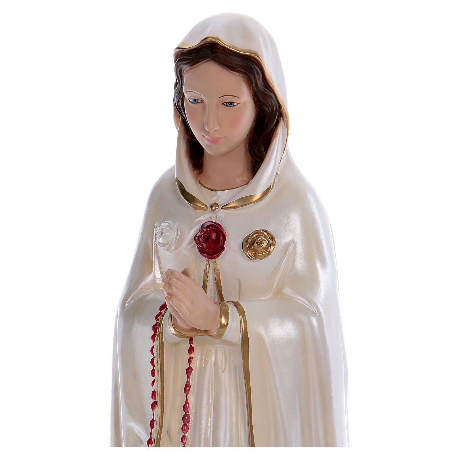 Statue of St. Rosa Mystica 70 cm, in plaster with mother of pearl 4