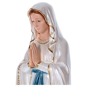 Our Lady of Lourdes statue in pearlized plaster 80 cm s2