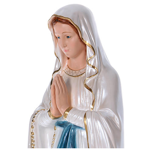 Our Lady of Lourdes statue in pearlized plaster 80 cm 2