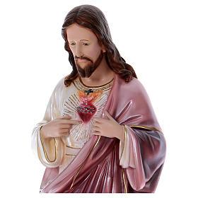 Sacro Cuore di Gesù statua 80 cm gesso madreperlato s2